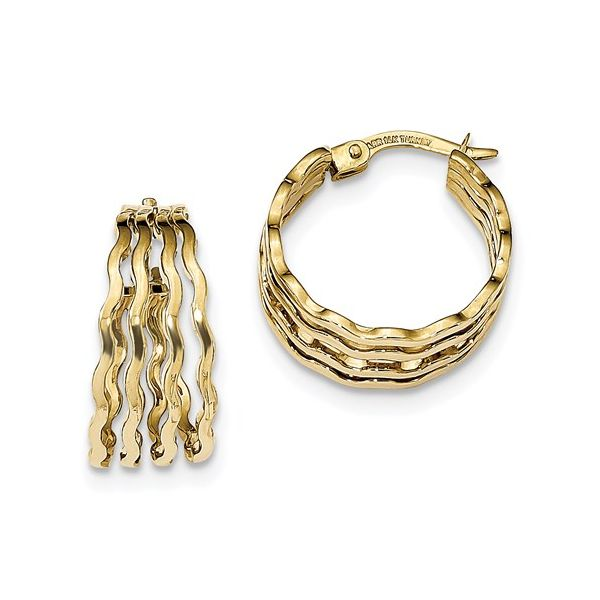Wavy Medium Hoop Earrings Martin Busch Inc. New York, NY