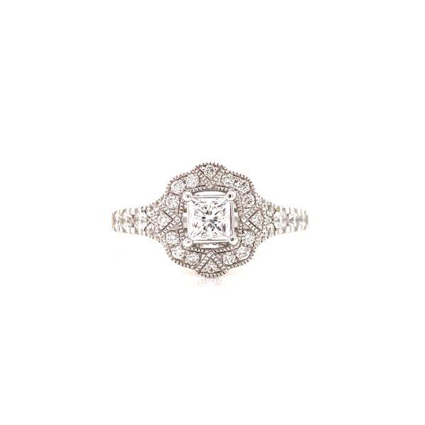 14K Princess Cut Vintage Style Ring Martin Busch Inc. New York, NY