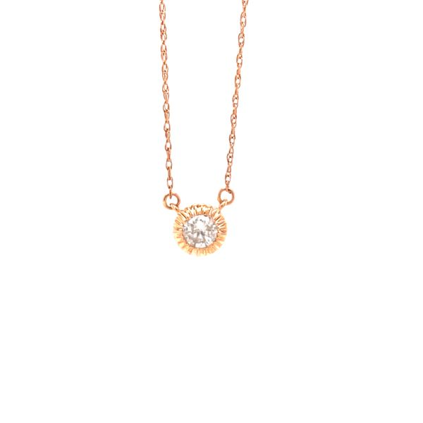 Rose Gold Diamond Drop Pendant Martin Busch Inc. New York, NY