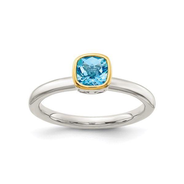 Sterling Silver Blue Topaz Ring Martin Busch Inc. New York, NY