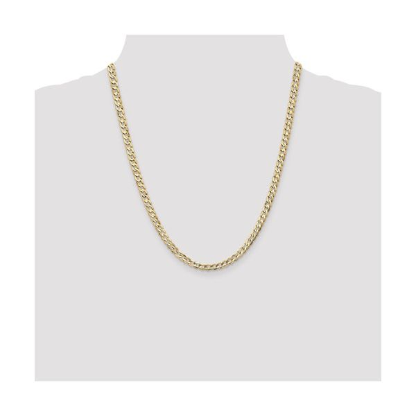14K Gold Solid Curb Chain Image 3 Martin Busch Inc. New York, NY