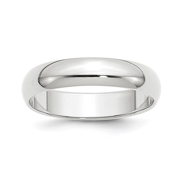 5MM White Gold Wedding Band Martin Busch Inc. New York, NY