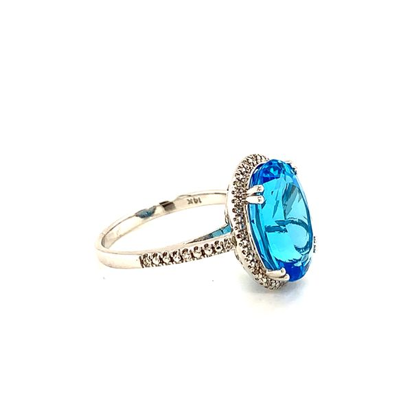 Blue Topaz Ring Side