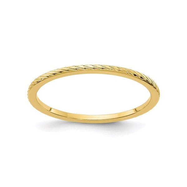 Yellow Gold Wire Finish Stackable Band Martin Busch Inc. New York, NY