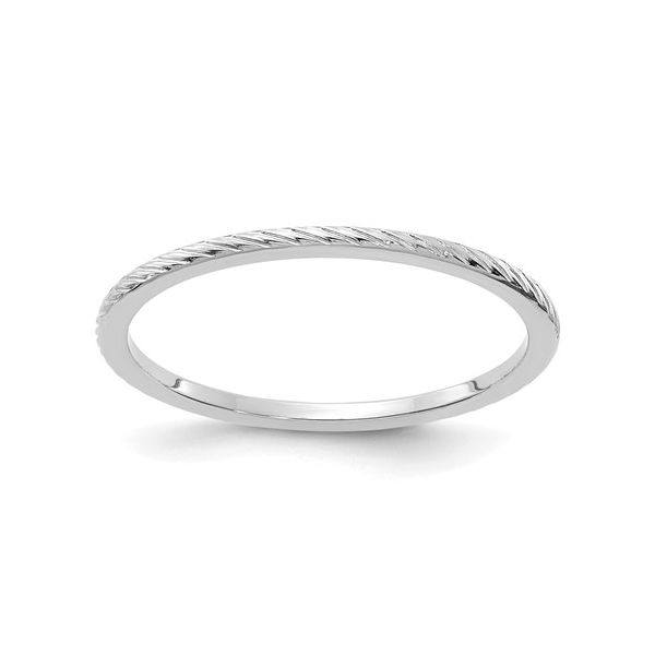 White Gold Wire Finish Stackable Band Martin Busch Inc. New York, NY