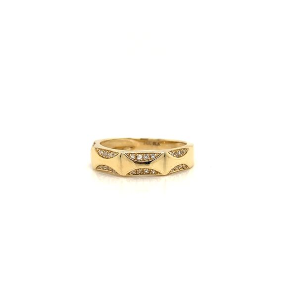 Gold and Diamond Stackable Band Martin Busch Inc. New York, NY