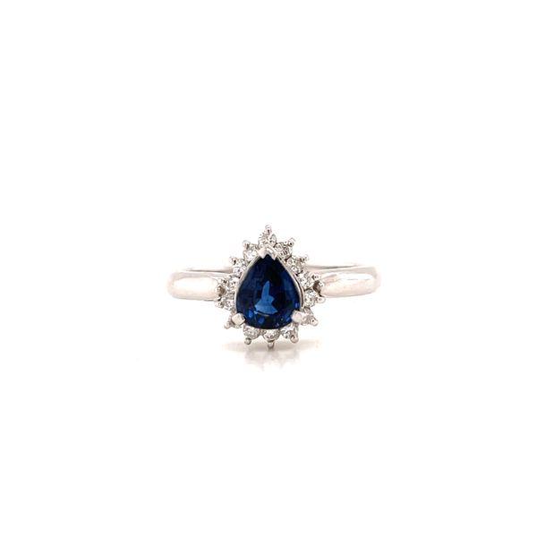 Platinum Sapphire and Diamond Ring Martin Busch Inc. New York, NY