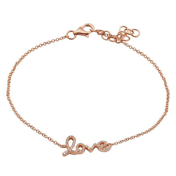 Rose Gold and Diamond Love Bracelet Martin Busch Inc. New York, NY