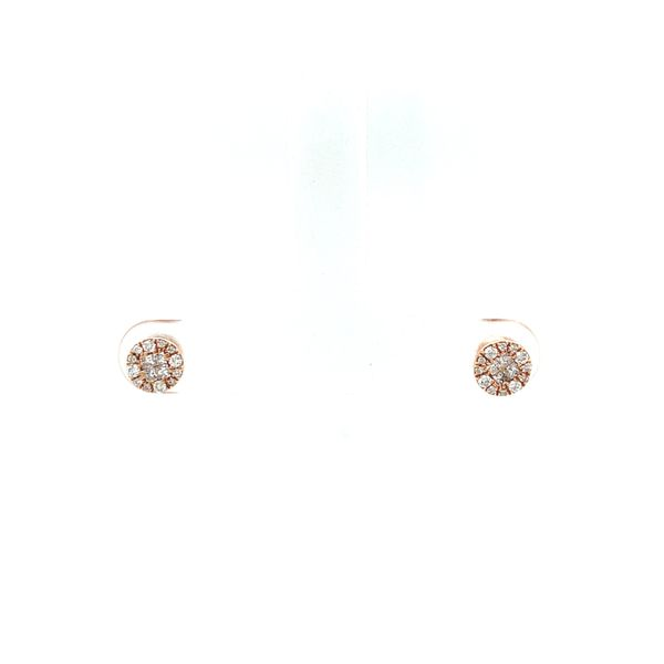 Pave Stud Earrings Rose Gold Martin Busch Inc. New York, NY
