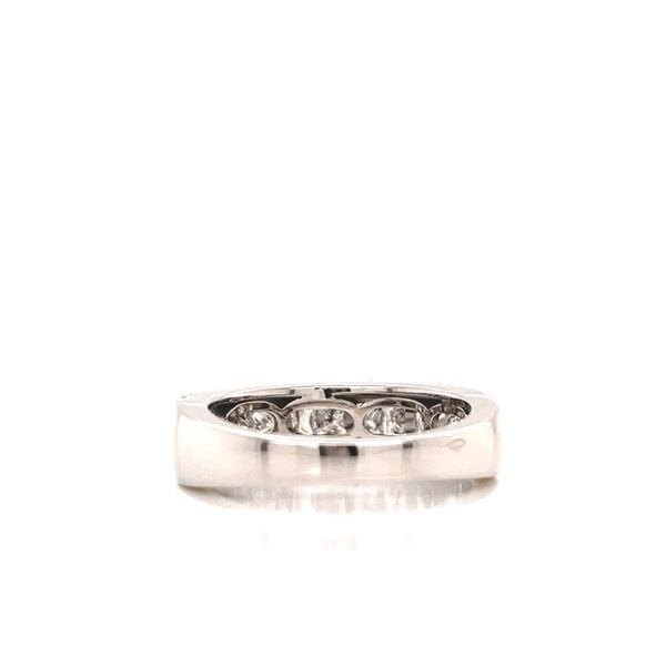 White Gold Princess Cut & Pave Line Cluster Image 3 Martin Busch Inc. New York, NY