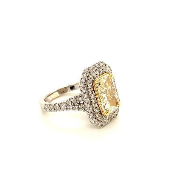 Yellow Diamond Double Halo Ring Image 2 Martin Busch Inc. New York, NY