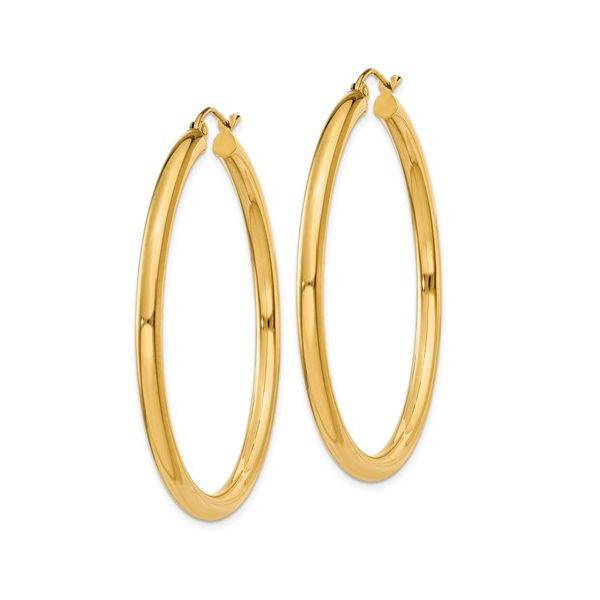 14 Karat Large Gold Hoop Earrings Image 2 Martin Busch Inc. New York, NY