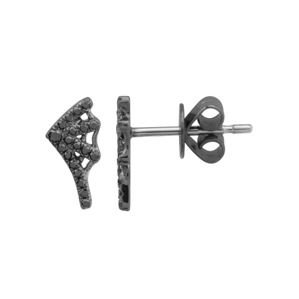 White Gold and Black Rhodium Web Stud Earrings Martin Busch Inc. New York, NY