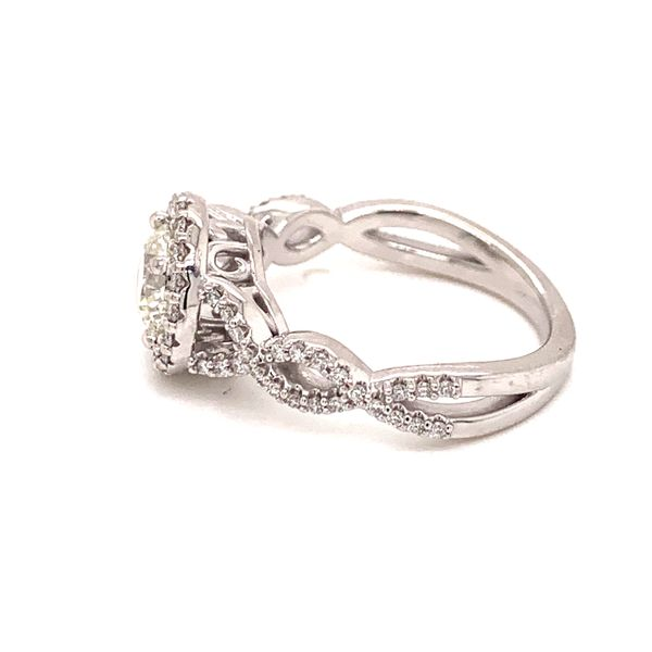 Infinity Inspired Halo Engagement Ring Image 2 Martin Busch Inc. New York, NY