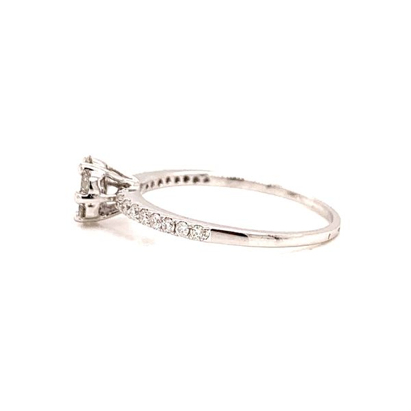 Cluster Diamond Engagement Ring Image 2 Martin Busch Inc. New York, NY