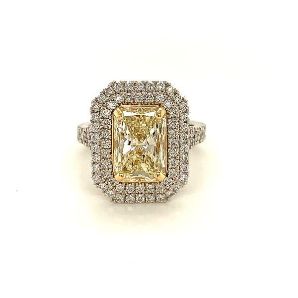 Yellow Diamond Double Halo Ring Martin Busch Inc. New York, NY
