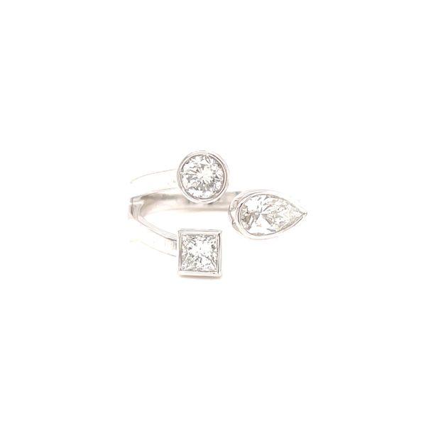 14K Mixed Diamond 3 Stone Ring Martin Busch Inc. New York, NY
