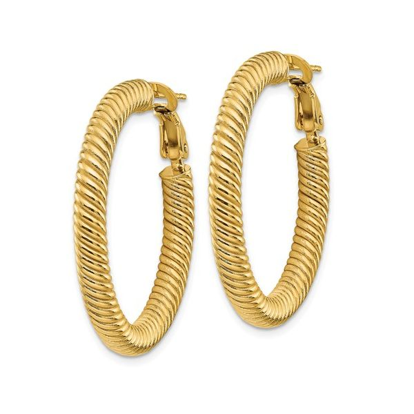 Twisted Omega Back Gold Hoop Martin Busch Inc. New York, NY