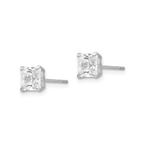 White 14 Karat Stud Earrings Image 2 Martin Busch Inc. New York, NY