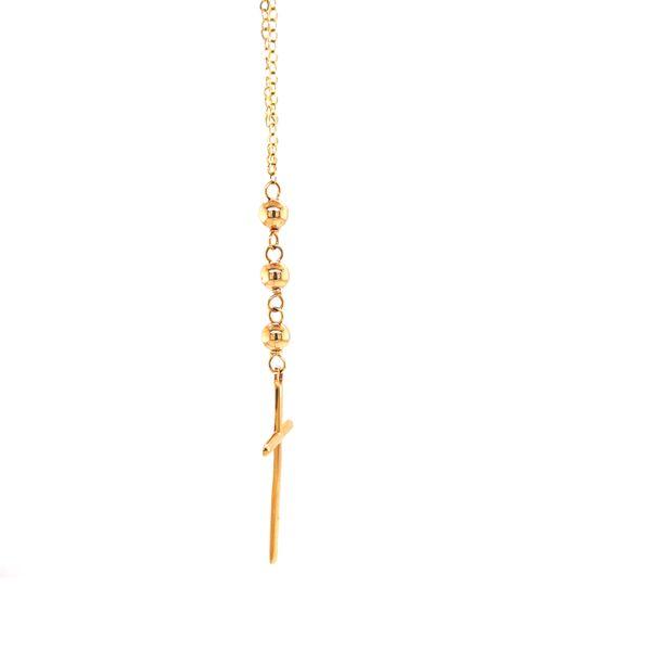 Beaded Cross Necklace Image 2 Martin Busch Inc. New York, NY