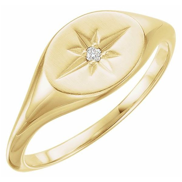 Diamond Starburst Signet Ring Martin Busch Inc. New York, NY