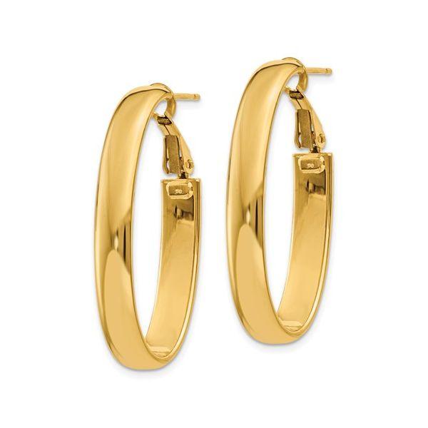 14 Karat Gold Omega Hoop Earrings Image 2 Martin Busch Inc. New York, NY