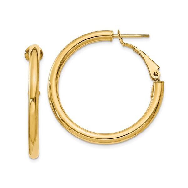 Omega Back Tube Hoop Earring Martin Busch Inc. New York, NY