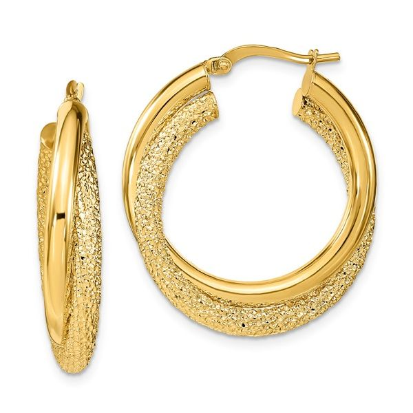 Sparkle Texture & Polished Double Hoops Martin Busch Inc. New York, NY