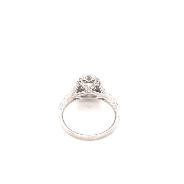 14K Princess Cut Vintage Style Ring Image 3 Martin Busch Inc. New York, NY