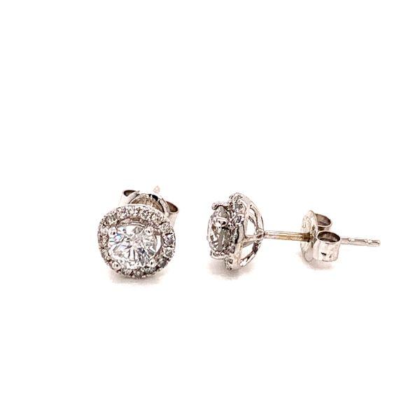 Halo Diamond Stud Earrings Image 2 Martin Busch Inc. New York, NY