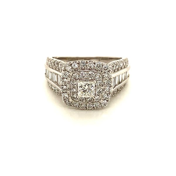 Double Halo Wide Band Engagement Ring Martin Busch Inc. New York, NY
