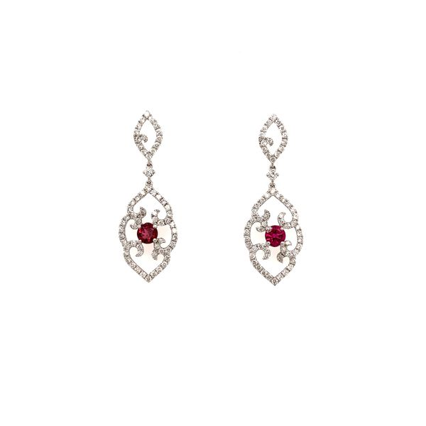Ruby and Diamond Chandelier Earrings Martin Busch Inc. New York, NY