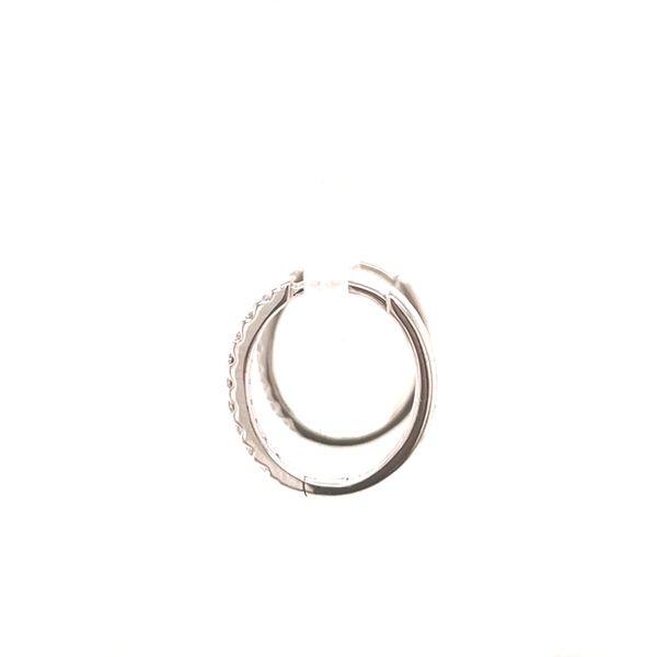 Small Diamond Hoop Earrings Image 3 Martin Busch Inc. New York, NY
