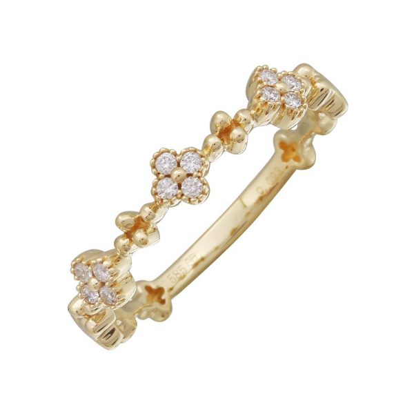 14K Diamond Floral Motif Band Martin Busch Inc. New York, NY