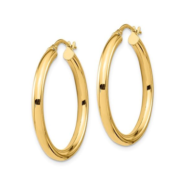 Polished Medium Hoops Image 2 Martin Busch Inc. New York, NY