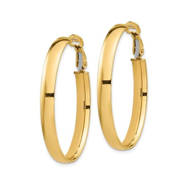 14 Karat Large Omega Hoop Earrings Image 2 Martin Busch Inc. New York, NY