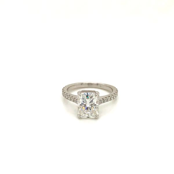 Moissanite and Diamond Engagement Ring Martin Busch Inc. New York, NY