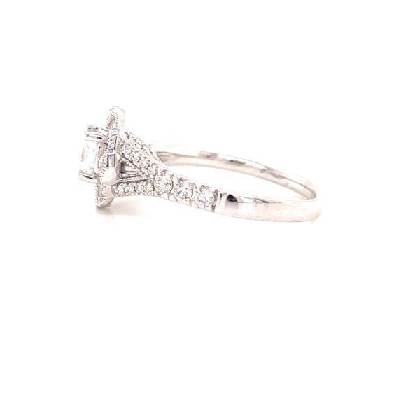 14K Princess Cut Vintage Style Ring Image 2 Martin Busch Inc. New York, NY