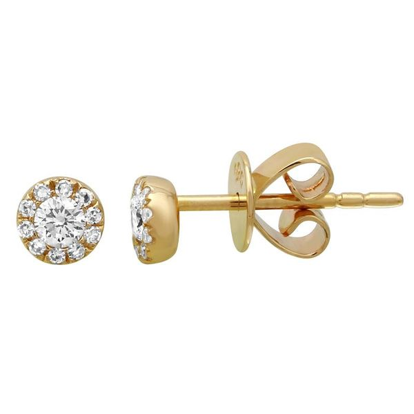 Halo Diamond Earrings Martin Busch Inc. New York, NY
