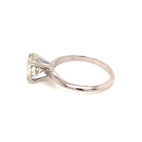 Solitaire Round Diamond Engagement Ring Image 3 Martin Busch Inc. New York, NY