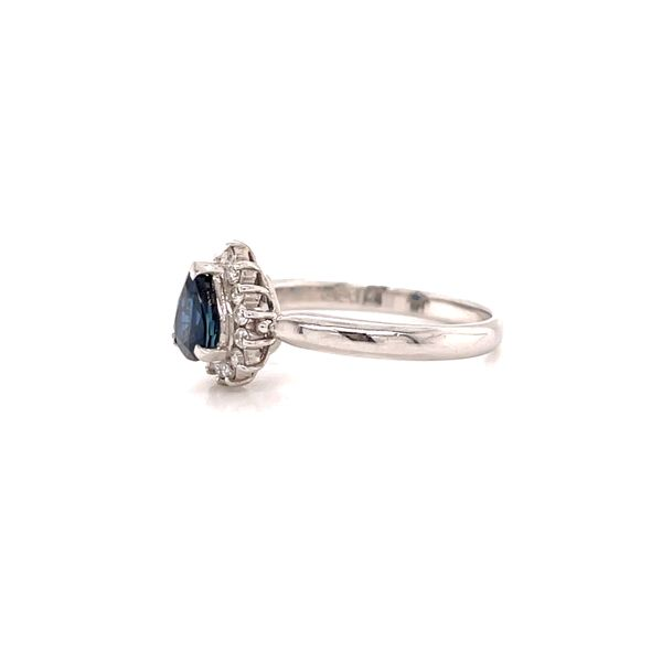 Platinum Sapphire and Diamond Ring Image 2 Martin Busch Inc. New York, NY
