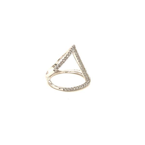 White Gold and Diamond Negative Space Ring Image 2 Martin Busch Inc. New York, NY