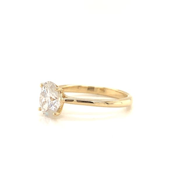 Oval Moissanite Solitaire Engagement Ring Image 2 Martin Busch Inc. New York, NY