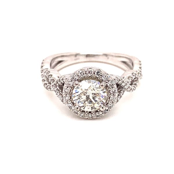 Infinity Inspired Halo Engagement Ring Martin Busch Inc. New York, NY