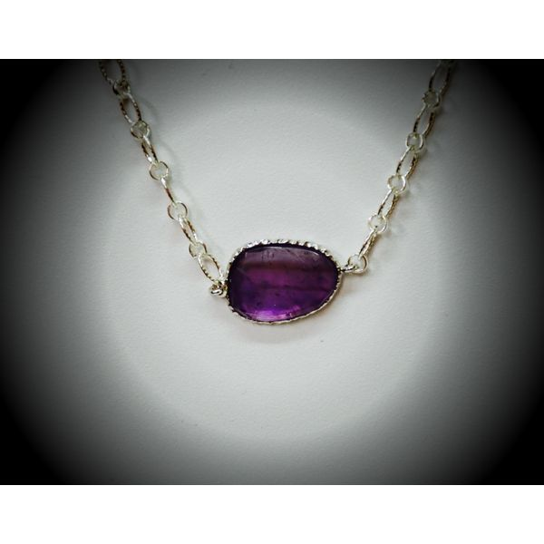 Sterling Silver Amethyst Necklace Image 2 McCoy Jewelers Bartlesville, OK
