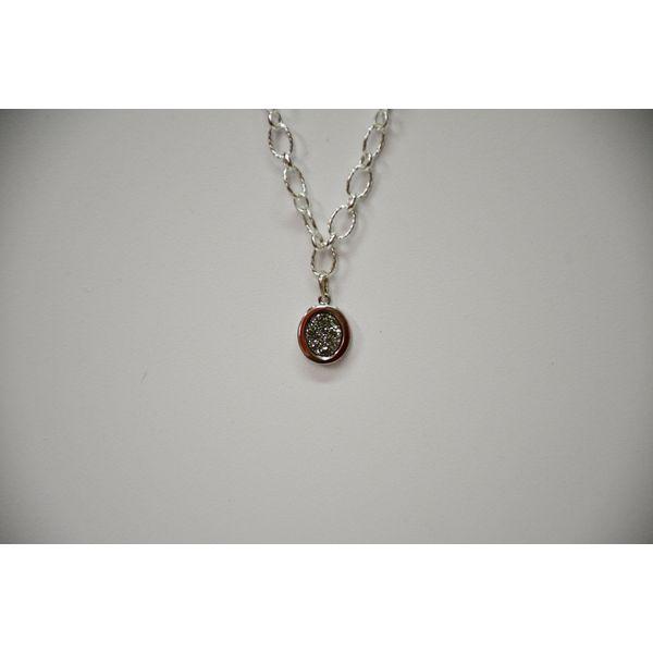 Sterling Silver Drusy Pendant McCoy Jewelers Bartlesville, OK