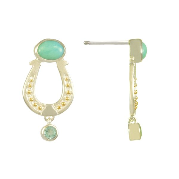 Sterling Silver Vermeil Earring McCoy Jewelers Bartlesville, OK