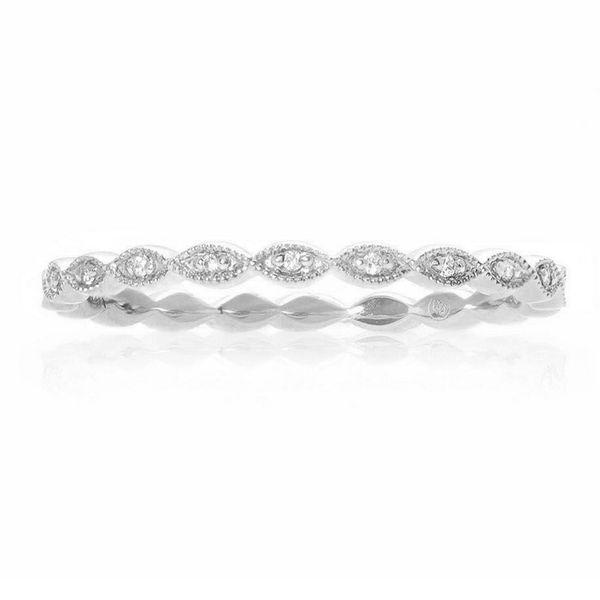 Milgrain Leaf White Diamond Band Mystique Jewelers Alexandria, VA