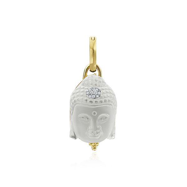 Crystal Buddha Enhancer  with diamonds Mystique Jewelers Alexandria, VA