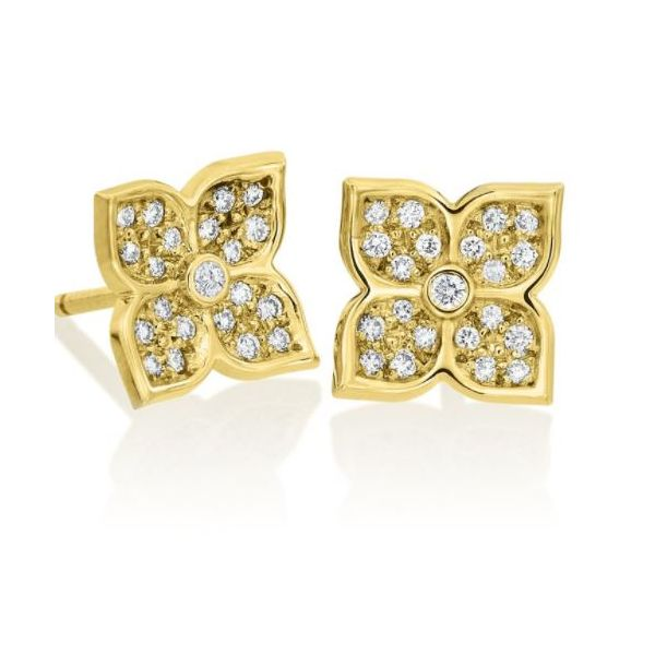 Lotus Flower Diamond Earrings Mystique Jewelers Alexandria, VA
